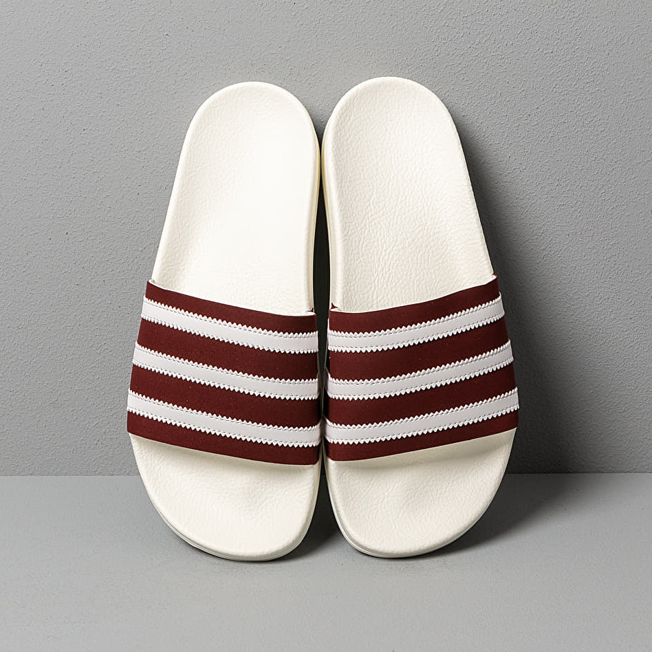 adidas Adilette Core Burgundy/ Ftw White/ Off White, Red