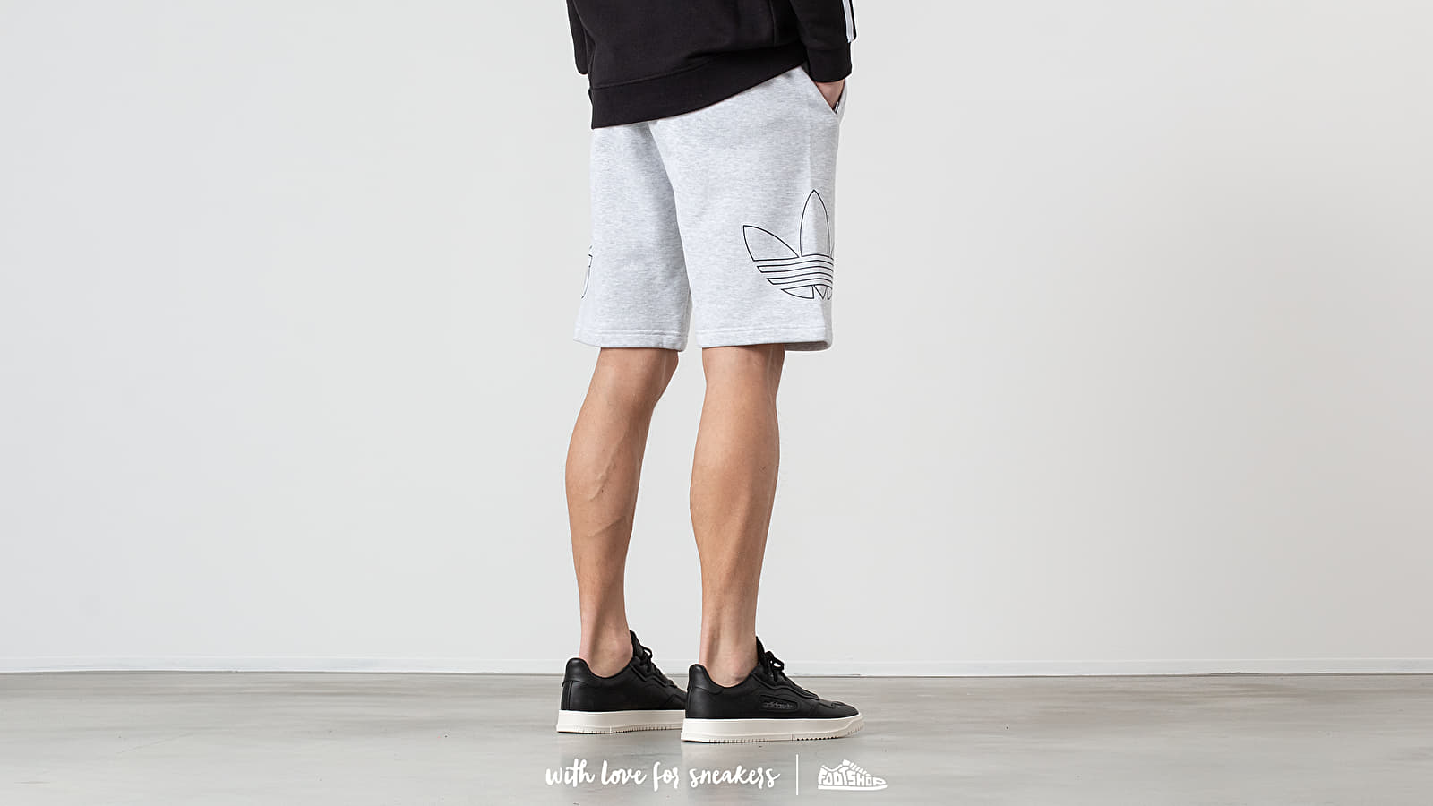 087d2d6b adidas Outline Shorts Light Grey Heather/ Coleggiate Navy at a great price  1 463 ГРН