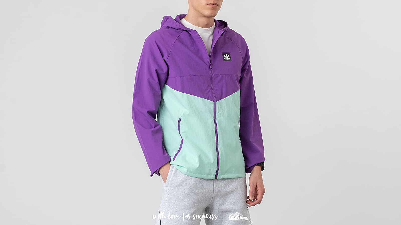 Větrovky Adidas Dekum Packable Jacket Activ Purple/ Clear Mint