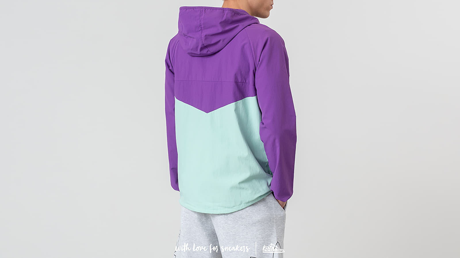 Adidas Dekum Packable Jacket Activ Purple Clear Mint | Footshop
