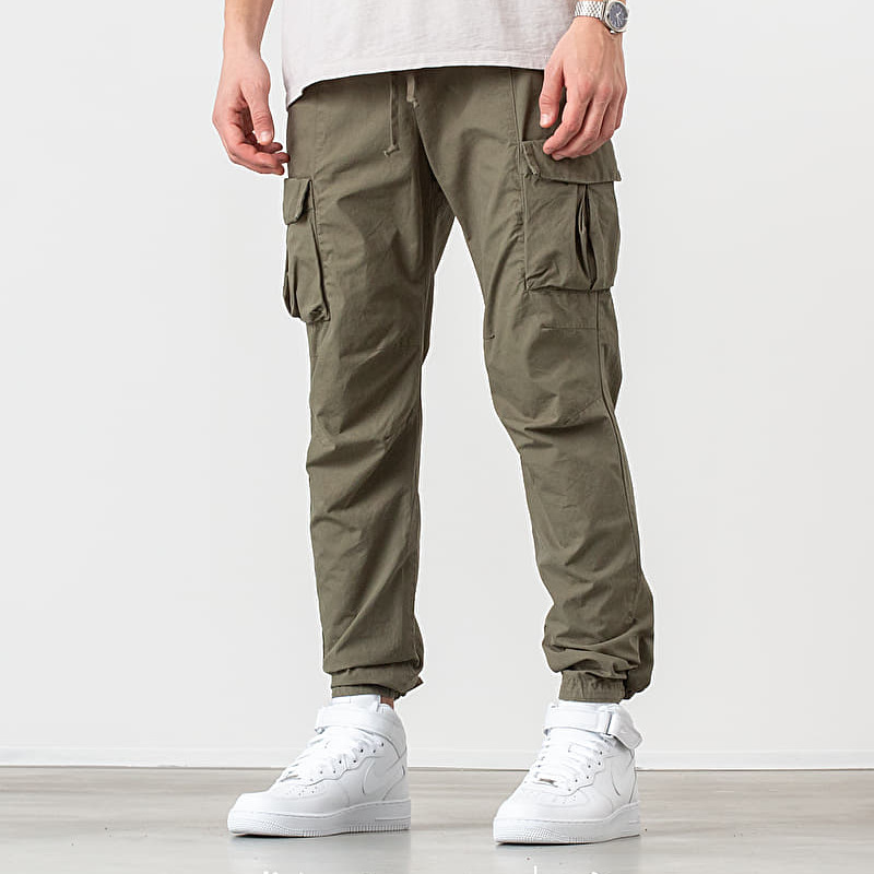 John Elliott Compact Cotton Cargo Pants Olive