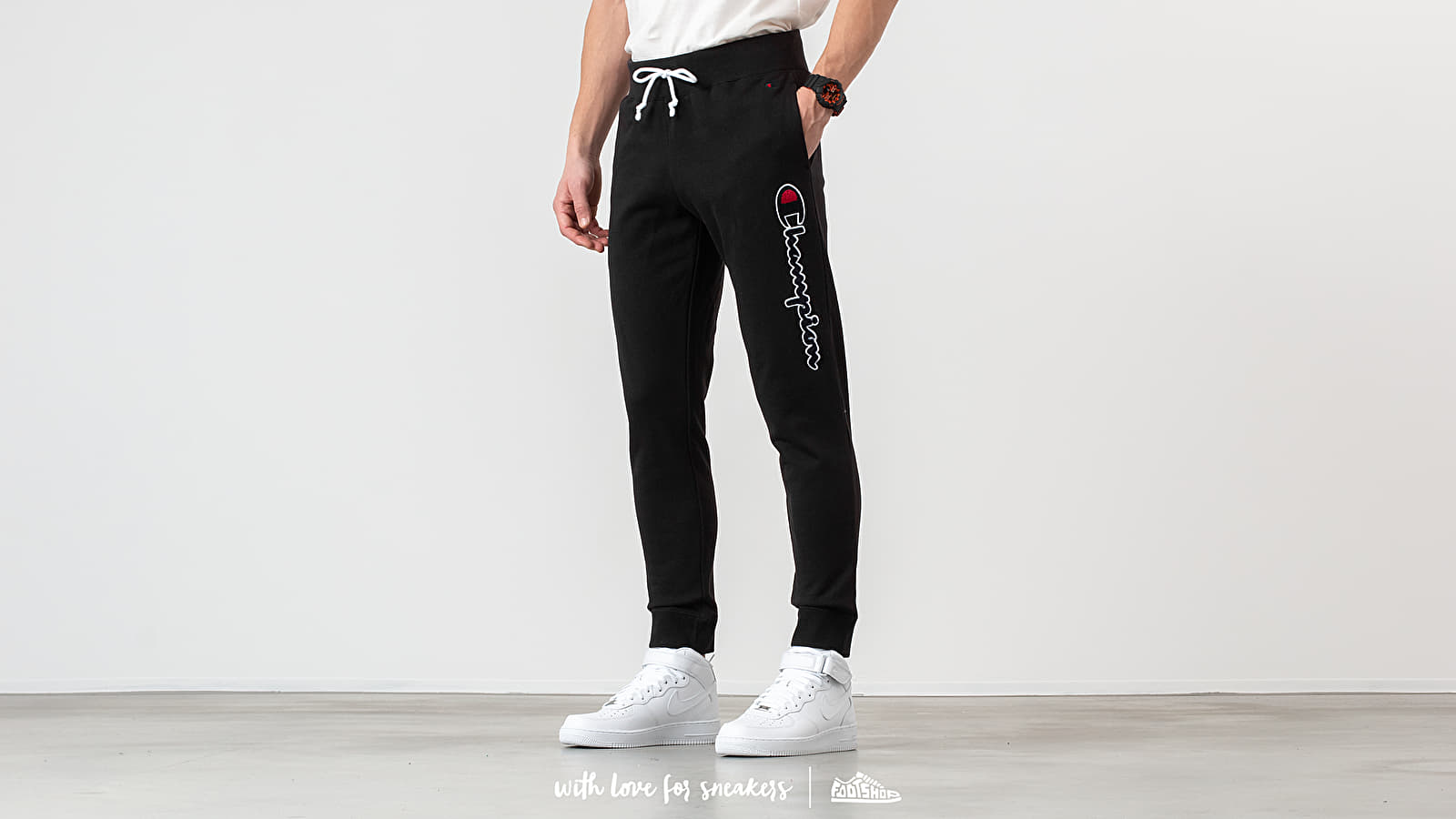 Pants and jeans Champion Regular Fit Pants Black