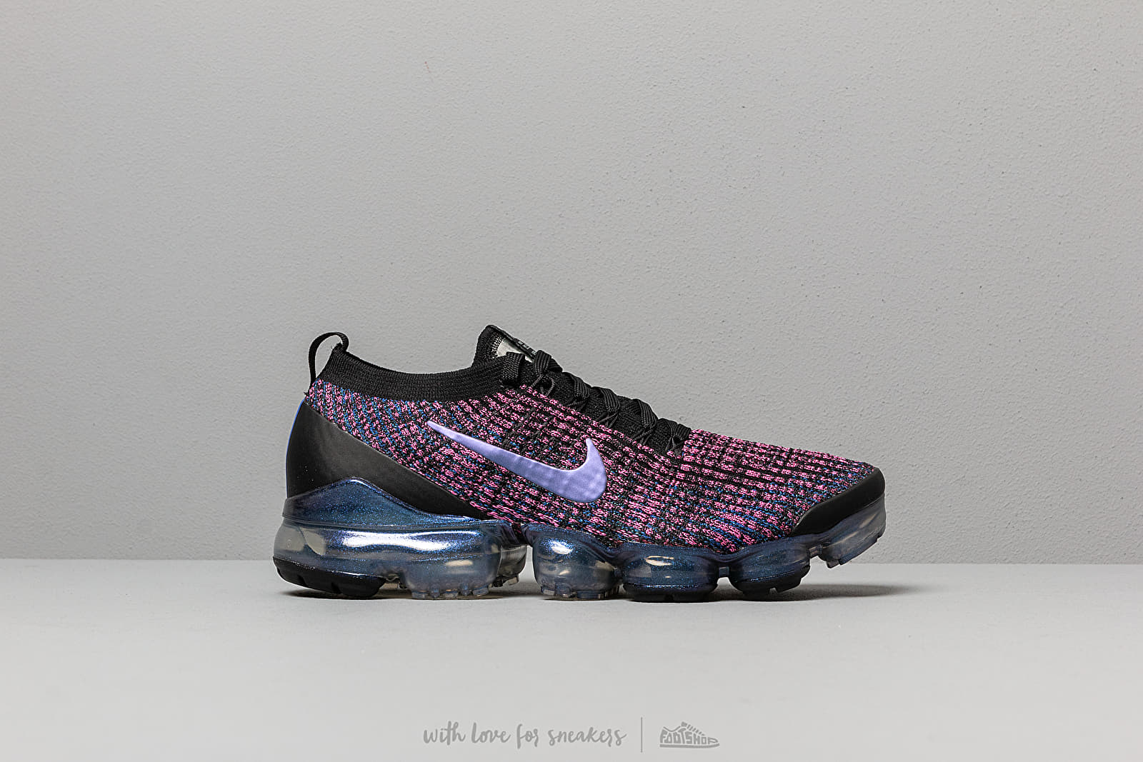 b07a8dc6dec17 Nike Air Vapormax Flyknit 3 Black  Racer Blue-Laser Fuchsia at a great price