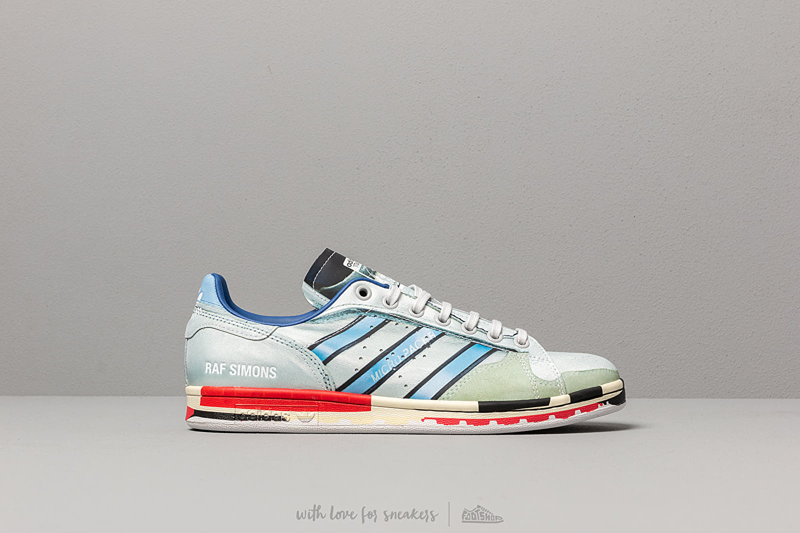 newest d546a ec1a7 adidas x Raf Simons Micro Stan Silver Metallic  Red  Red at a great price