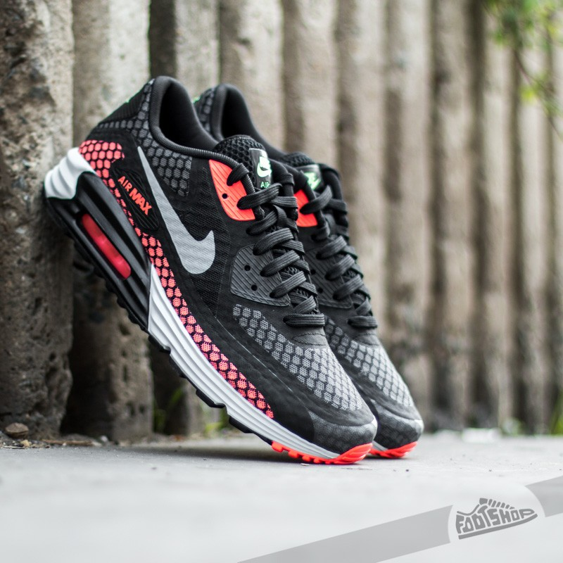 buy popular 54792 c58c5 Nike Air Max Lunar 90 BR Black Silver-Hot Lava