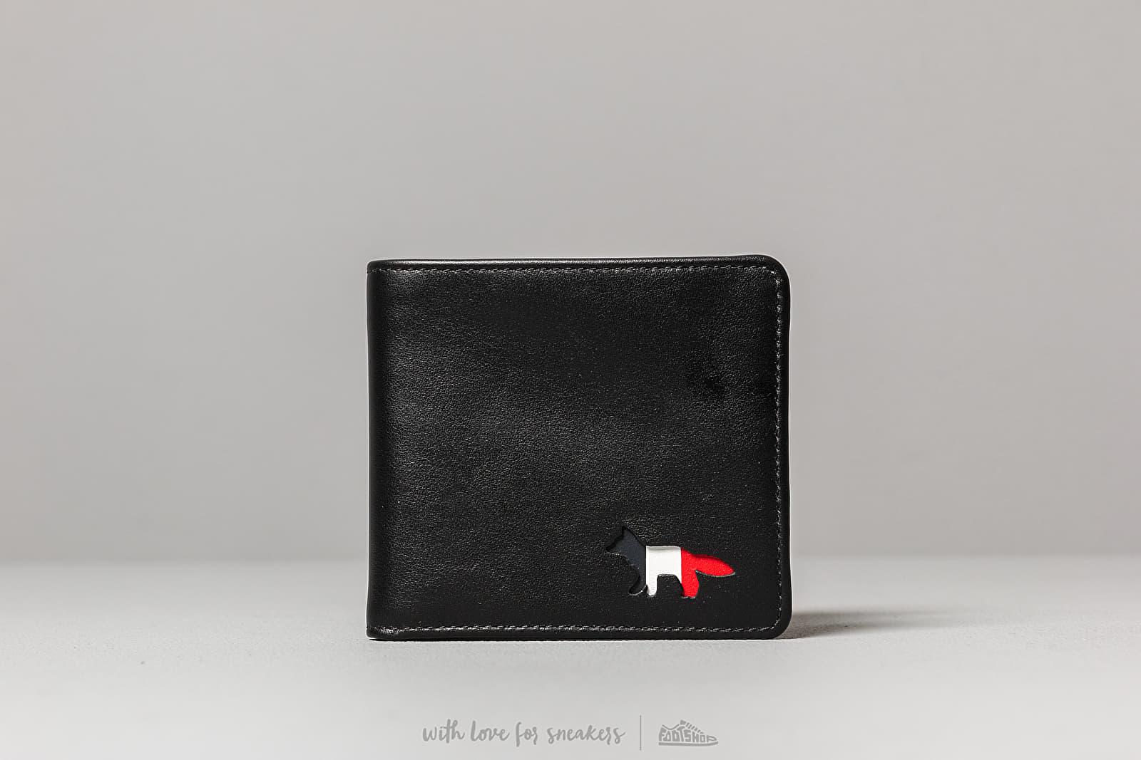 MAISON KITSUNÉ Tricolour Leather Wallet Black za skvelú cenu 142 € kúpite na Footshop.sk