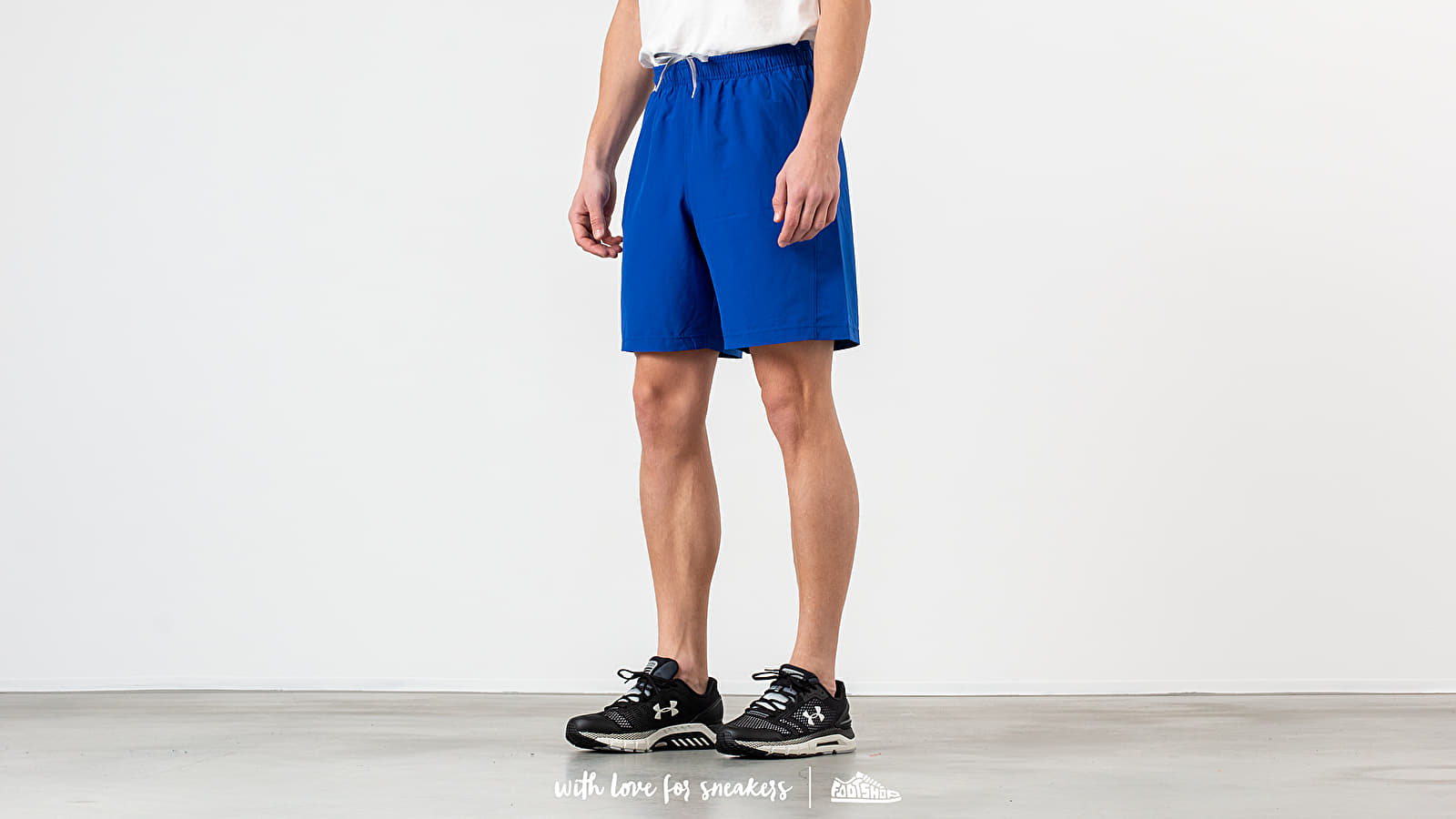 Pantalones cortos Under Armour Woven Graphic Wordmark Shorts Royal/ Steel