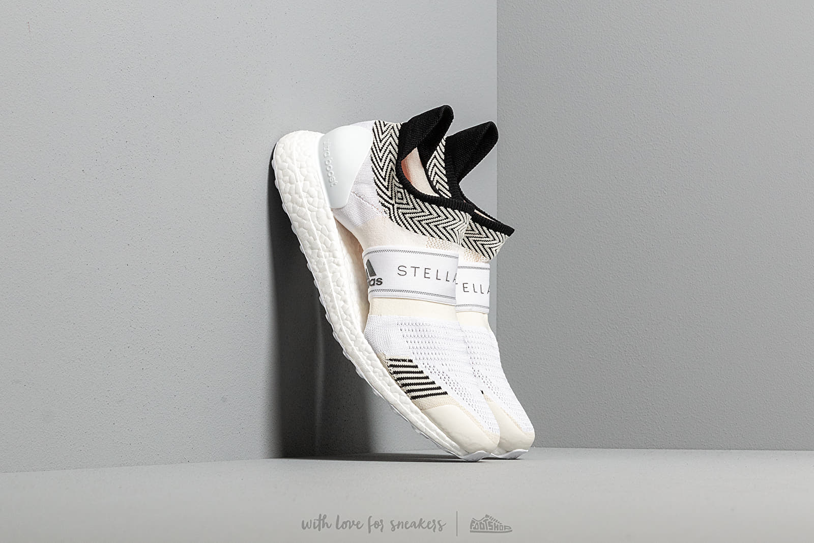 Nizke teniske adidas x Stella McCartney Ultraboost X 3.D. Chalk White/ Chalk White/ Radiate Orange