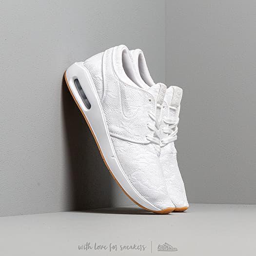 Nike SB Air Max Stefan Janoski II Skateboard Shoe WhiteWhite Gum Yellow