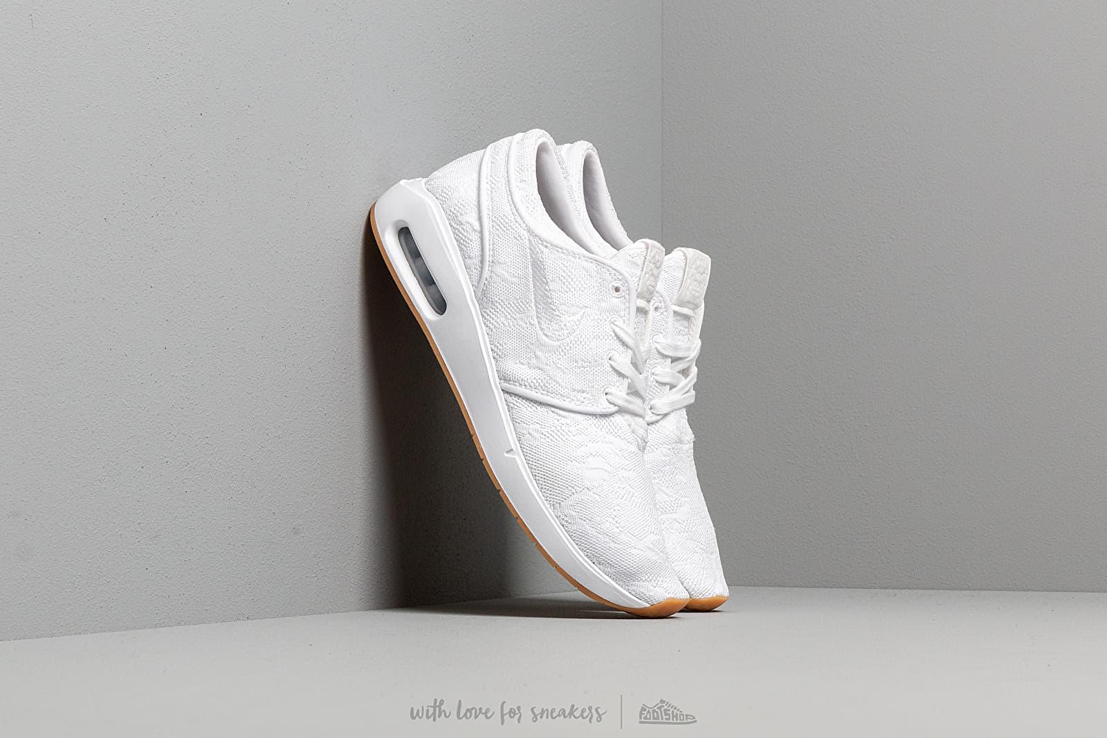 17e5920a14 Nike Sb Air Max Janoski 2 White  White-Gum Yellow at a great price