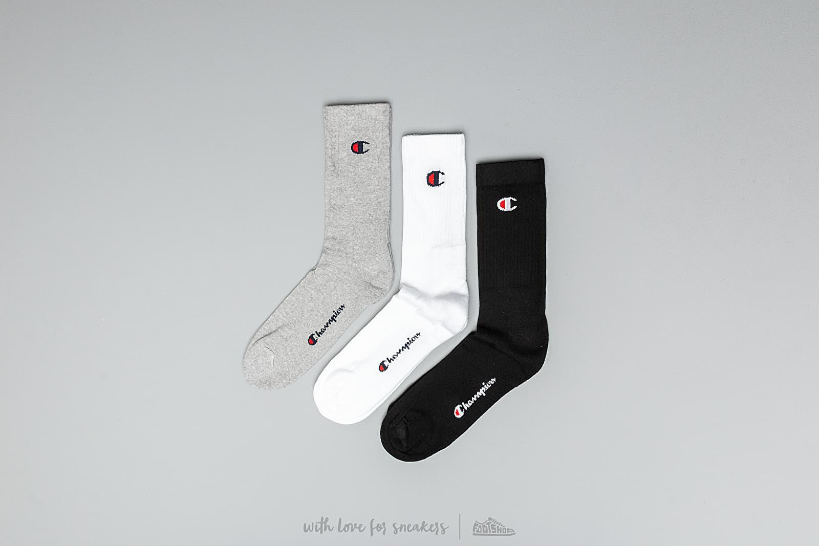 Κάλτσες Champion 3-Pack Socks Grey/ White/ Black
