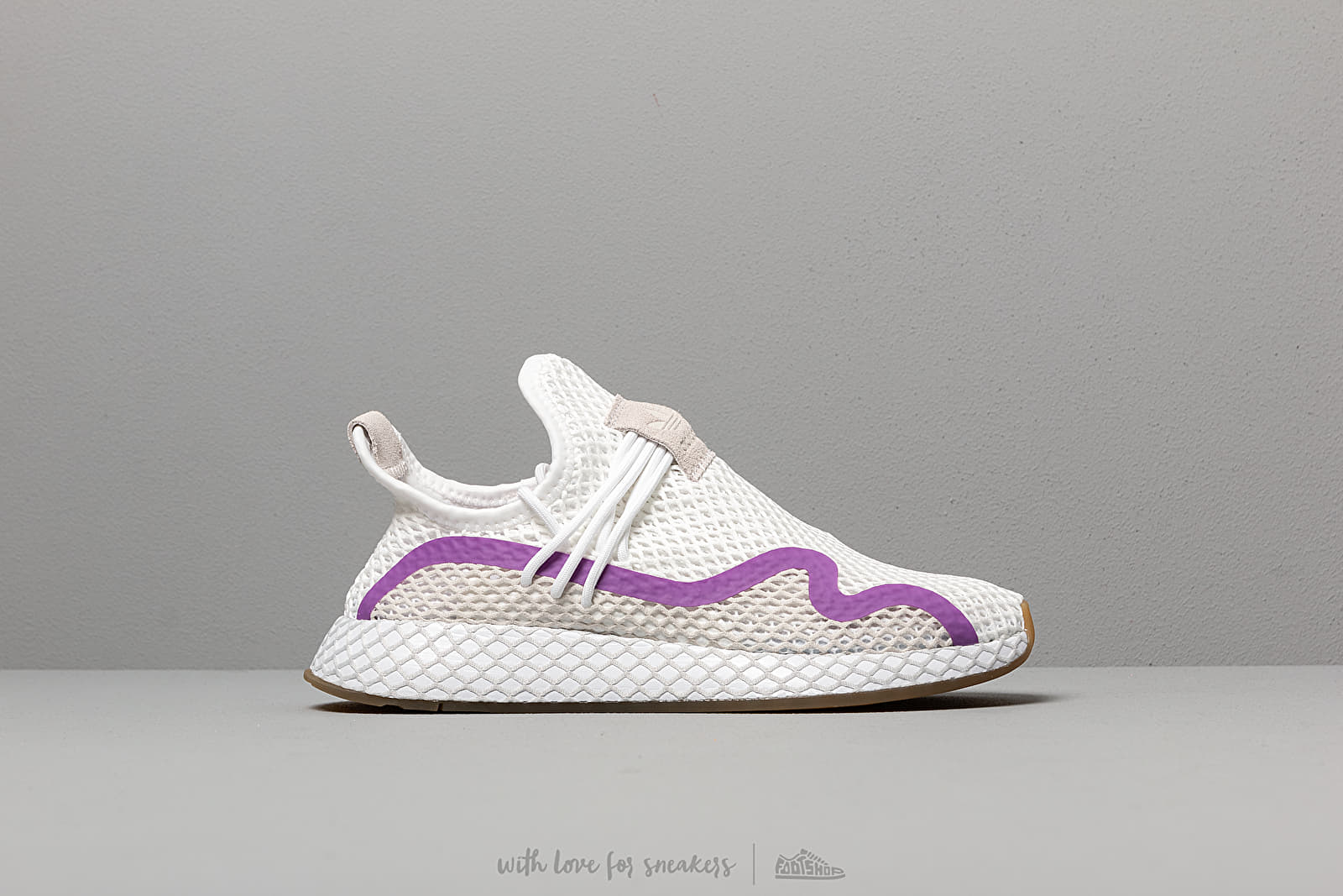 cad9d16c32714 adidas Deerupt S W Ftw White  Active Purple  Grey One at a great price £