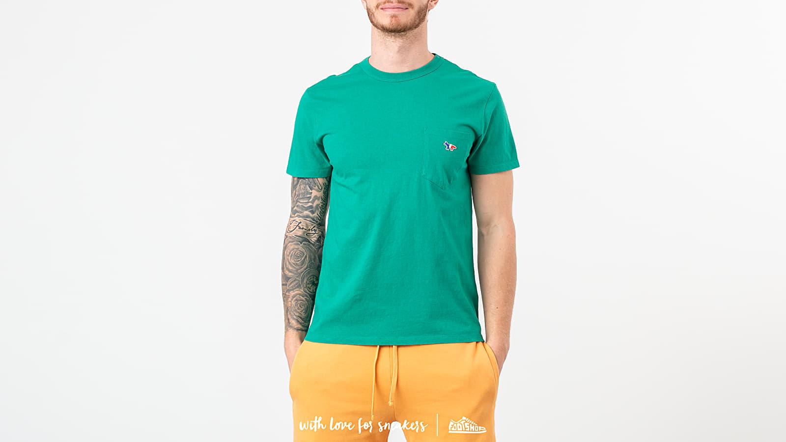T-shirts MAISON KITSUNÉ Tee-Shirt Tricolor Fox Patch Green