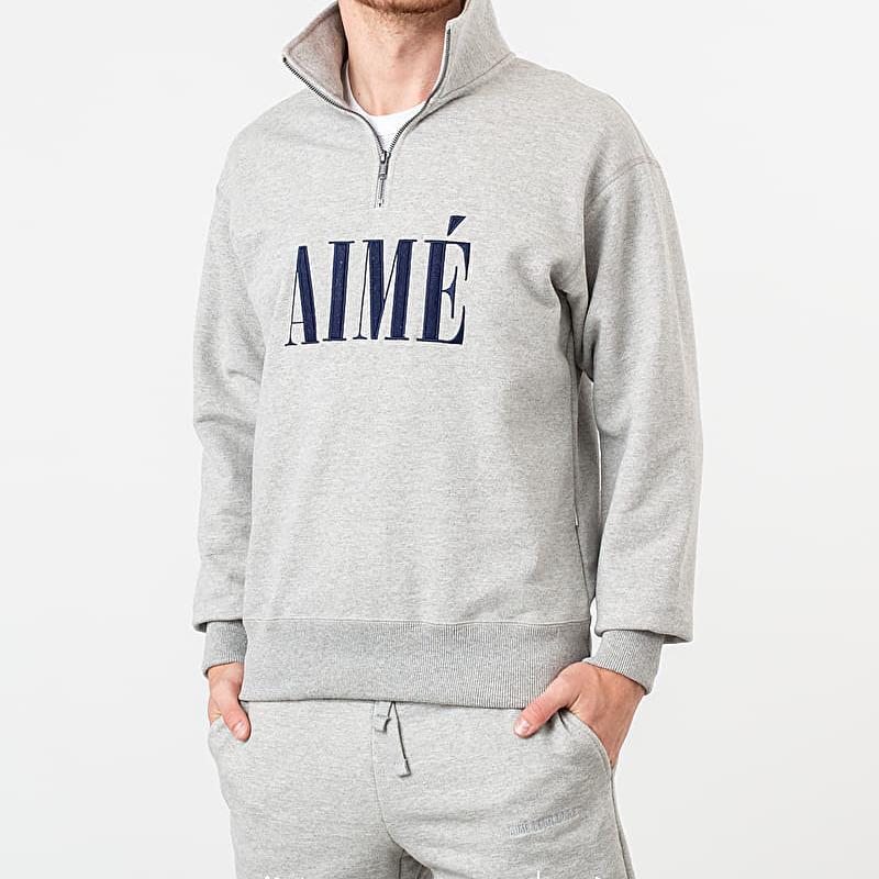 Aimé Leon Dore Quarter Zip Pullover Heather Grey, Gray