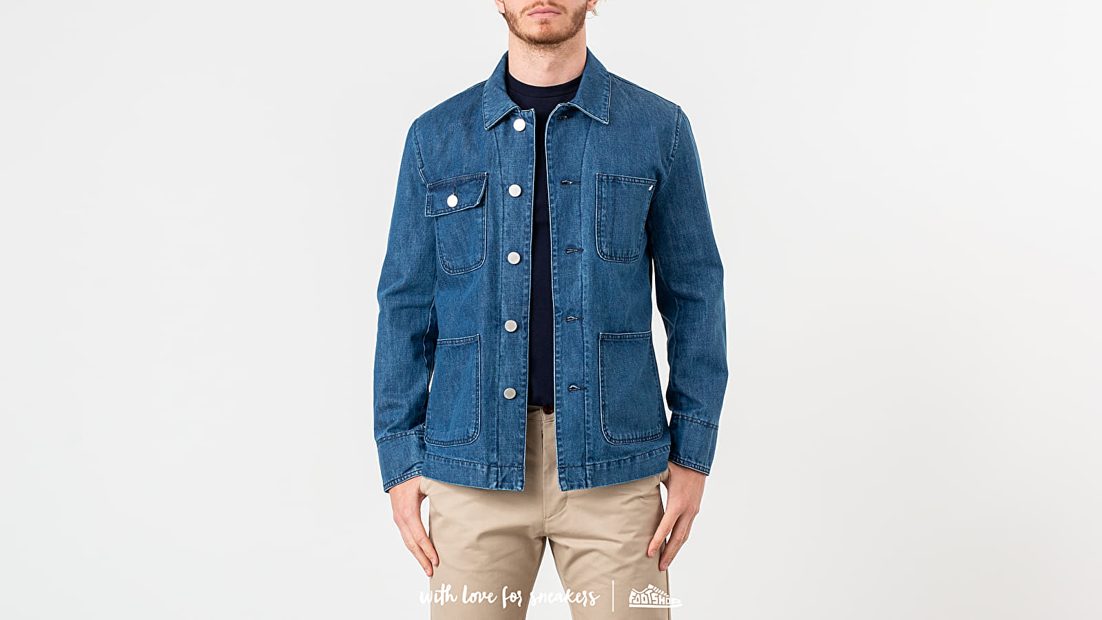 Vestes MAISON KITSUNÉ Denim Worker Jacket Bleach