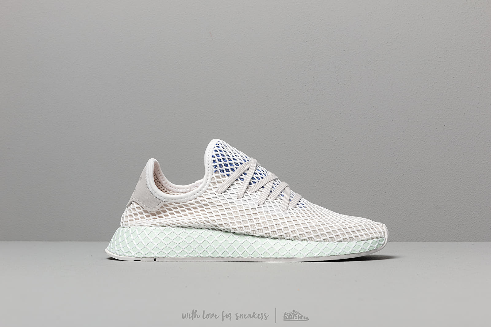 dfe1b9f53df9b adidas Deerupt Runner Grey One  Ftw White  Ice Mint at a great price 92
