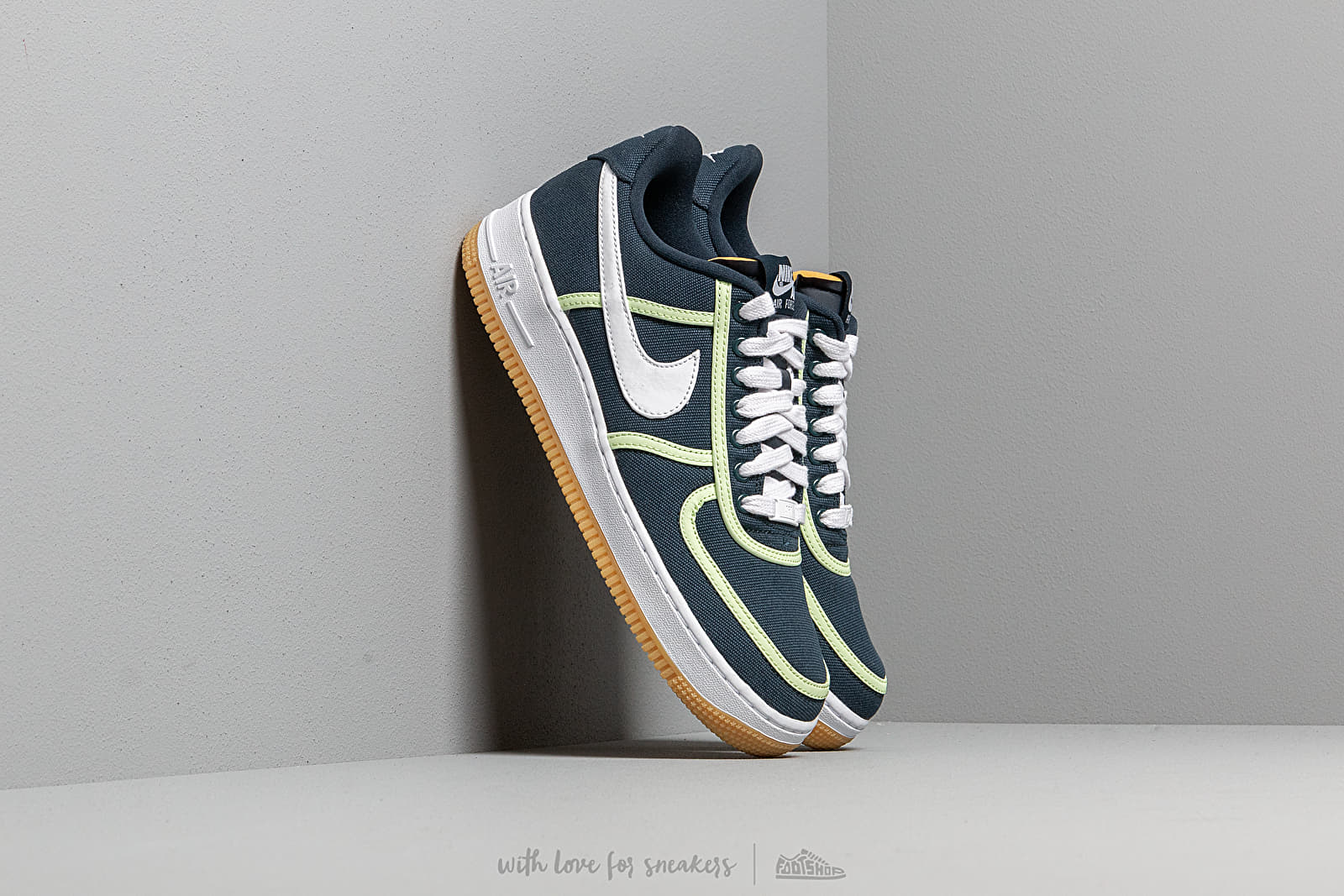 brand new 7a176 f13e7 Nike Air Force 1  07 Premium Armory Navy  White-Barely Volt at a