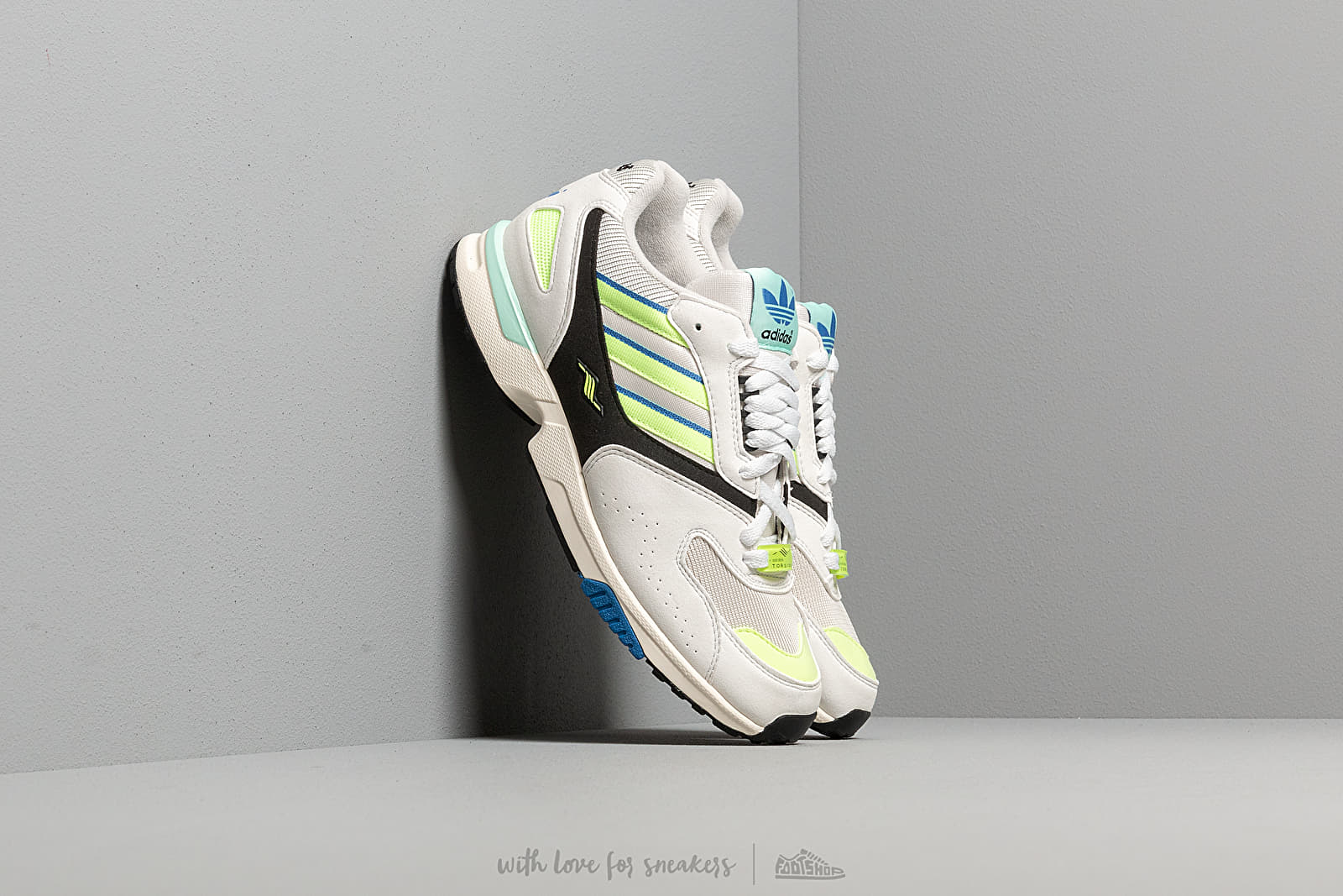 54355bd7827 adidas ZX 4000 Crystal White/ Semi Solar Yellow/ Core Black at a great price