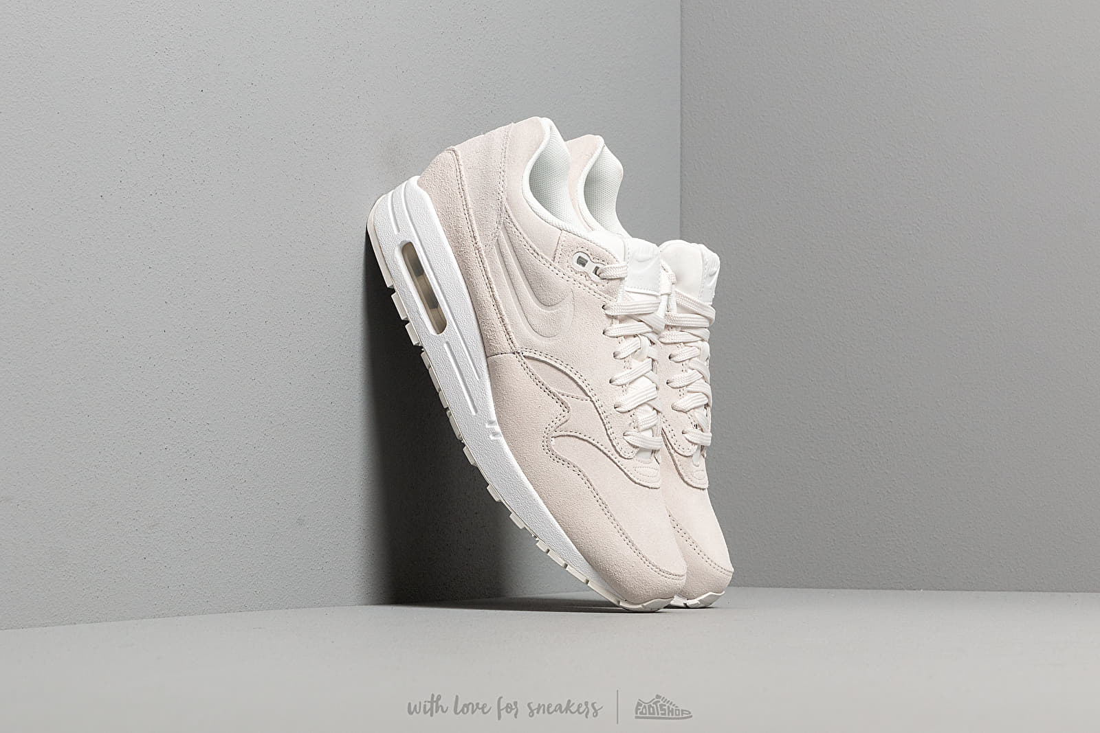 more photos 8787c 083da Nike Wmns Air Max 1 Premium Summit White  Summit White-Summit White at a