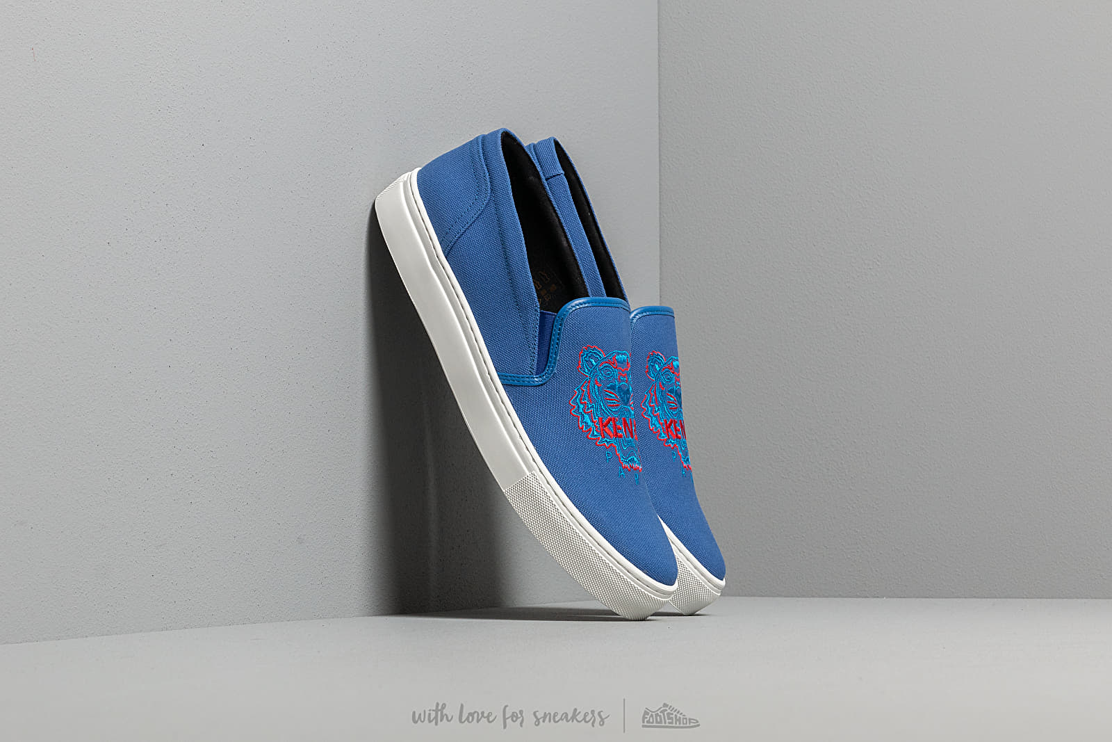 Women's shoes KENZO K-Skate Sneakers Tiger French Blue