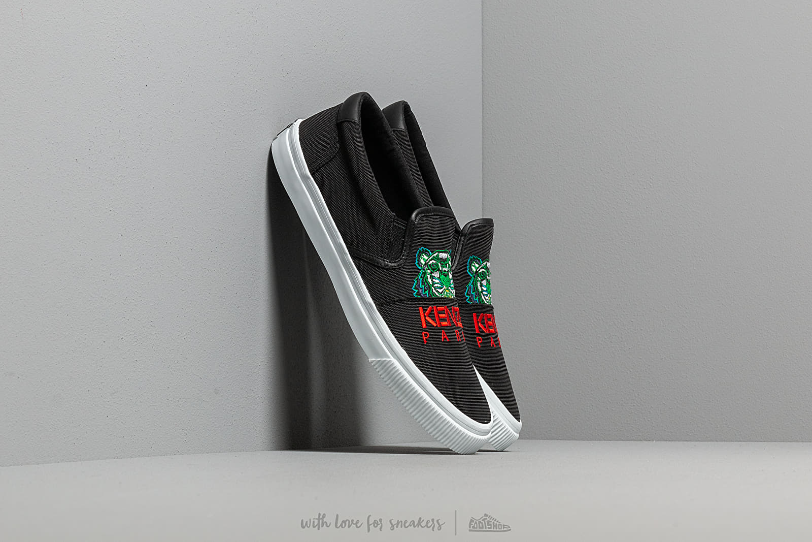 Women's shoes KENZO K-Skate Sneakers New Tiger Black