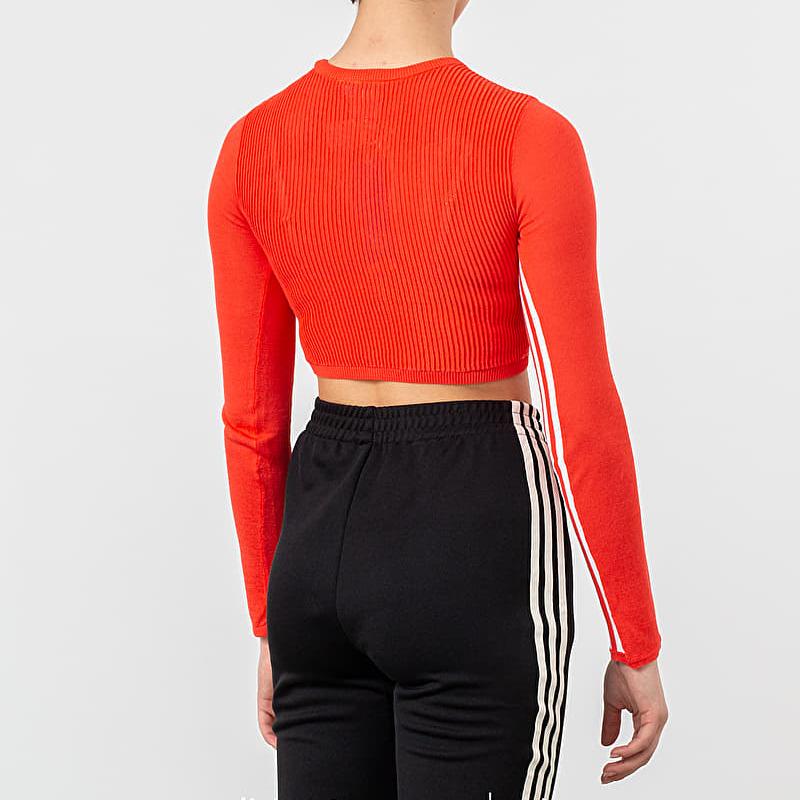 adidas Longsleeve Crop Tee Bright Red