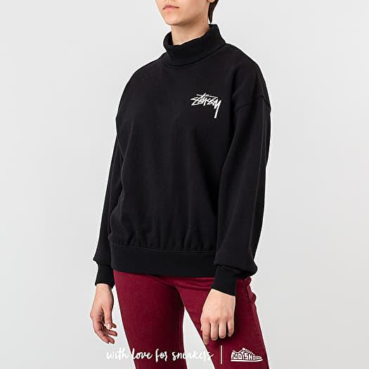 Stüssy Weller Turtleneck Fleece Crewneck Black | Footshop