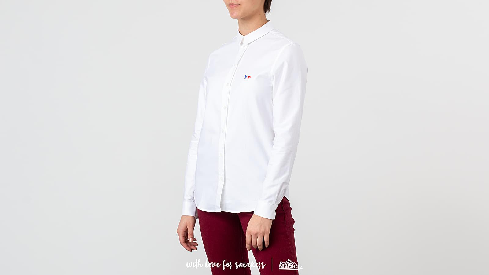 MAISON KITSUNÉ Oxford Tricolor Fox Patch Classic Shirt White za skvelú cenu 143 € kúpite na Footshop.sk