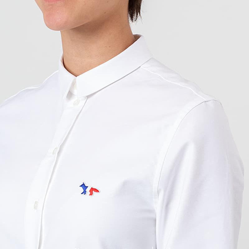 MAISON KITSUNÉ Oxford Tricolor Fox Patch Classic Shirt White