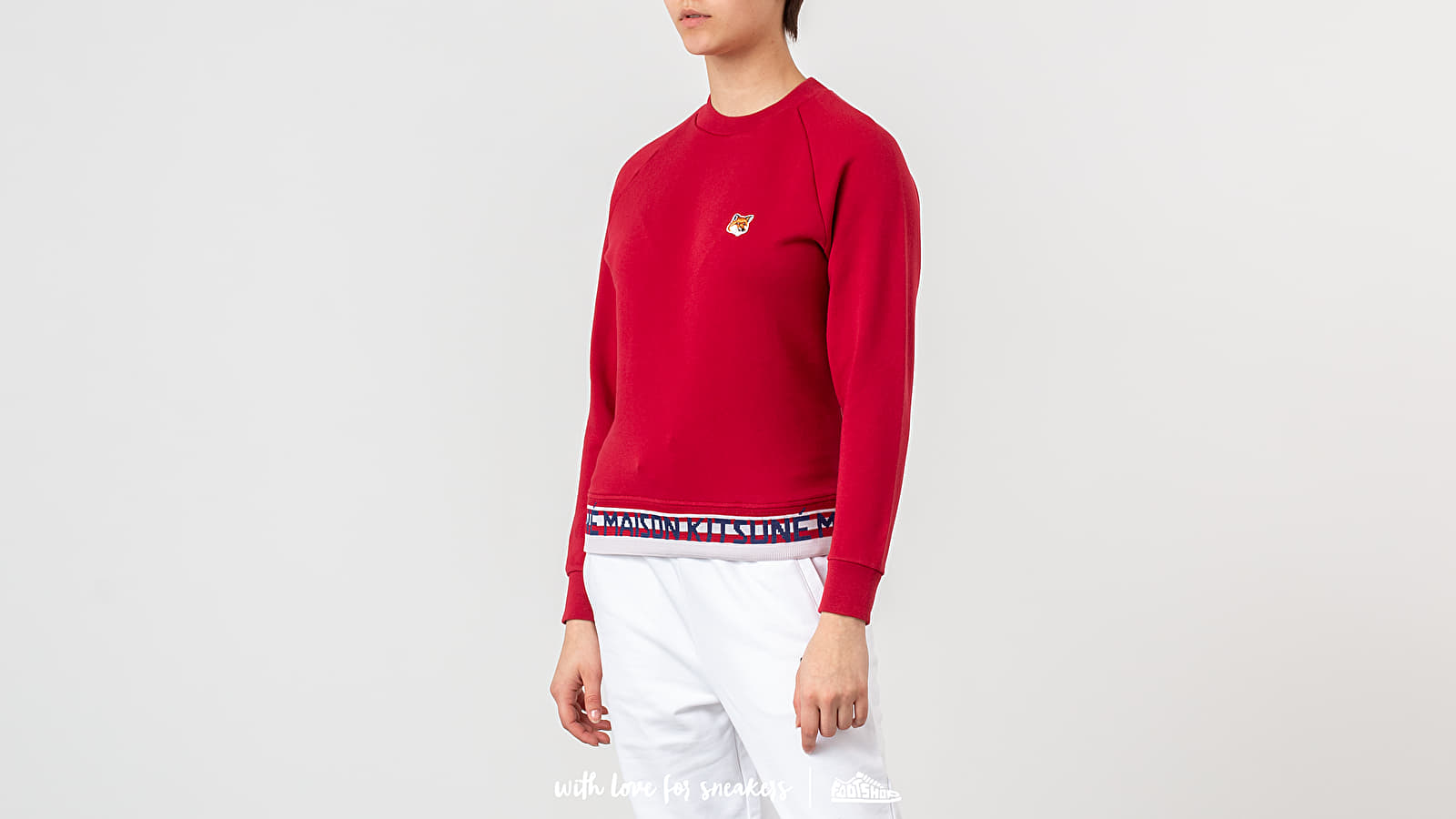 MAISON KITSUNÉ Fox Head Patch Jacquard Crewneck
