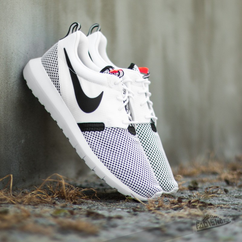 quality design a23e7 85c41 Nike Rosherun NM BR. White  Black-Hot Lava