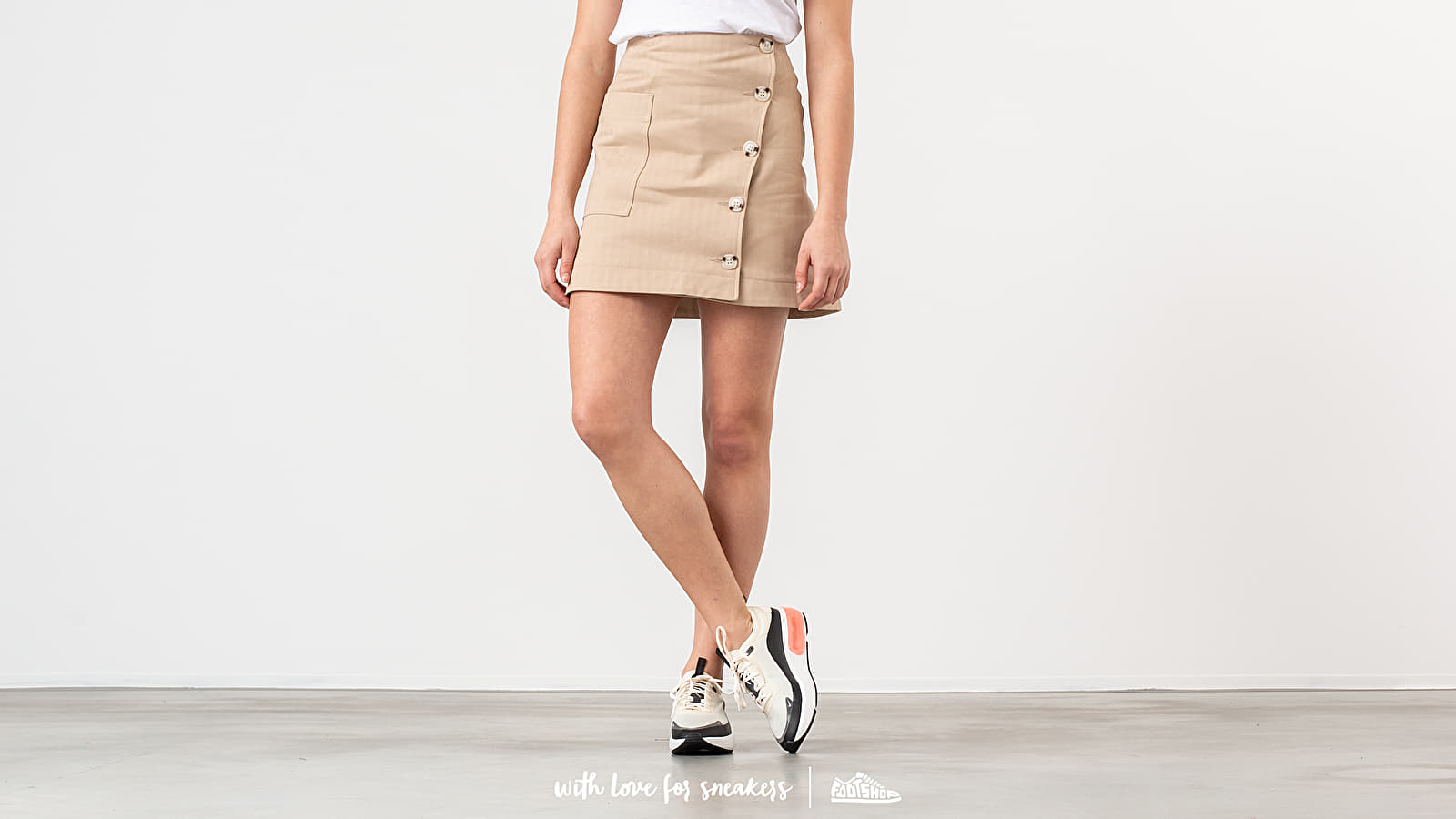 Faldas WOOD WOOD Anesia Skirt Light Khaki