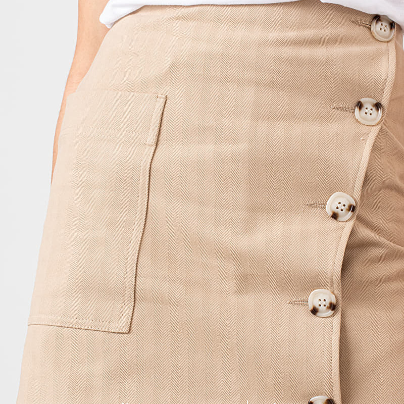 WOOD WOOD Anesia Skirt Light Khaki, Brown