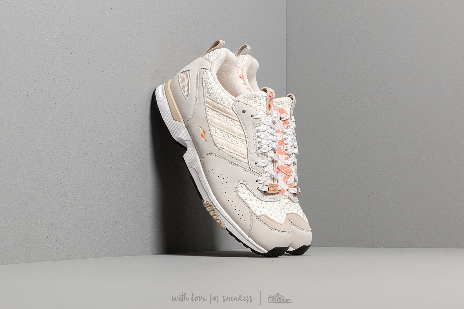 adidas Consortium x Shelflife ZX 4000 Ftwr White Orange Core Brown | Footshop