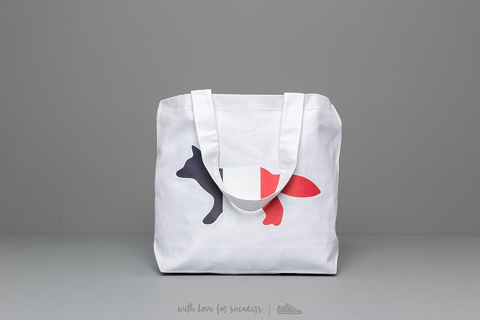 MAISON KITSUNÉ Tricolor Fox Tote Bag White za skvelú cenu 55 € kúpite na Footshop.sk