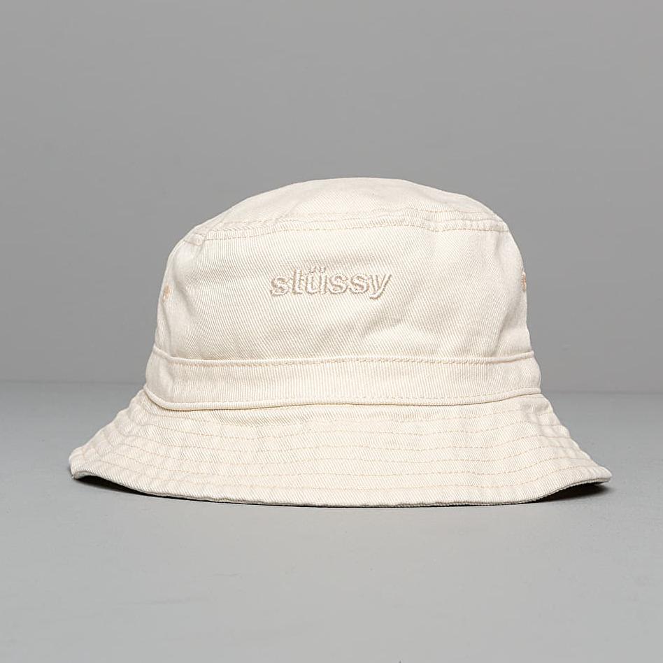 Stüssy Aurora Washed Twill Bucket Hat Natural, White