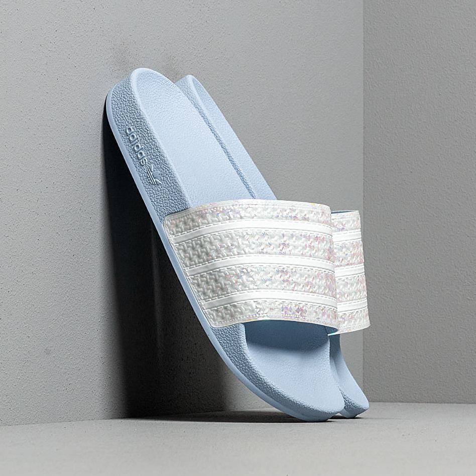 adidas Adilette W Periwinkle/ Ftw White/ Periwinkle, Blue