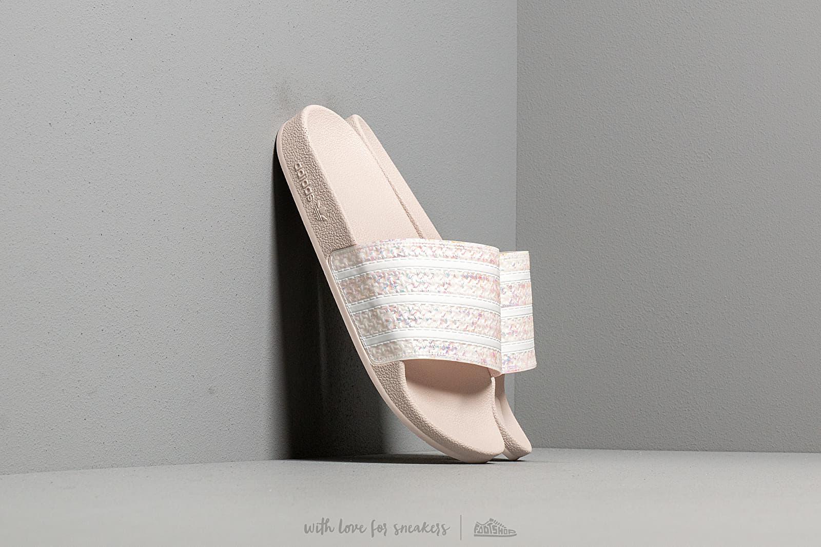 Dámské tenisky a boty adidas Adilette W Orchid Tint/ Ftw White/ Orchid Tint
