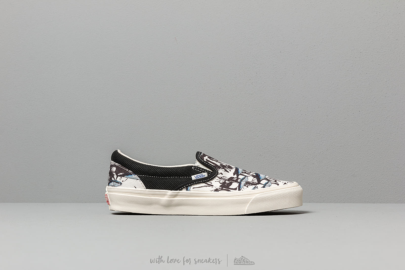 VAULT BY VANS OG CLASSIC SLIP ON LX NAVY CHECKERBOARD CANVAS