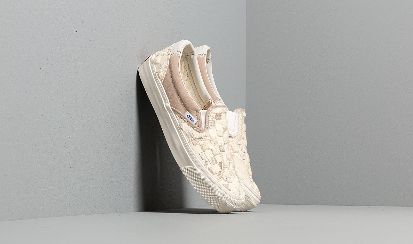 Vans Classic Slip-On Bricolage LX (Embroidered Checker) Classic, Black