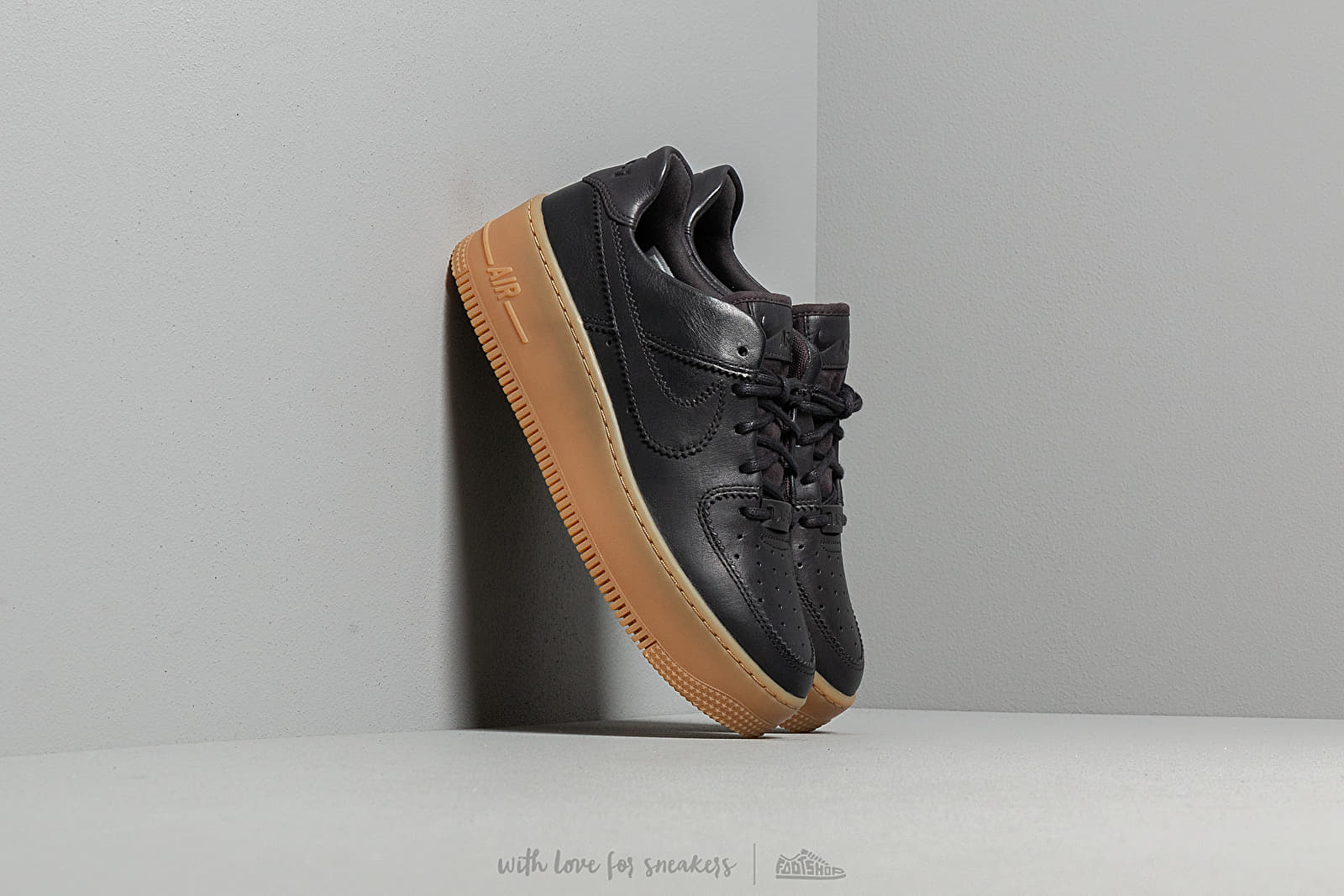 ae2a7c1a56ba Nike W Air Force 1 Sage Low Lx Oil Grey/ Oil Grey-Gum Light Brown ...