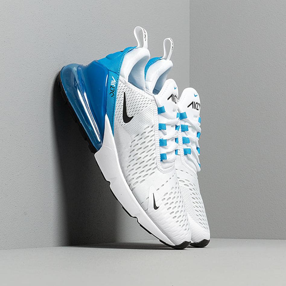 Nike Air Max 270 White/ Black-Photo Blue-Pure Platinum EUR 41