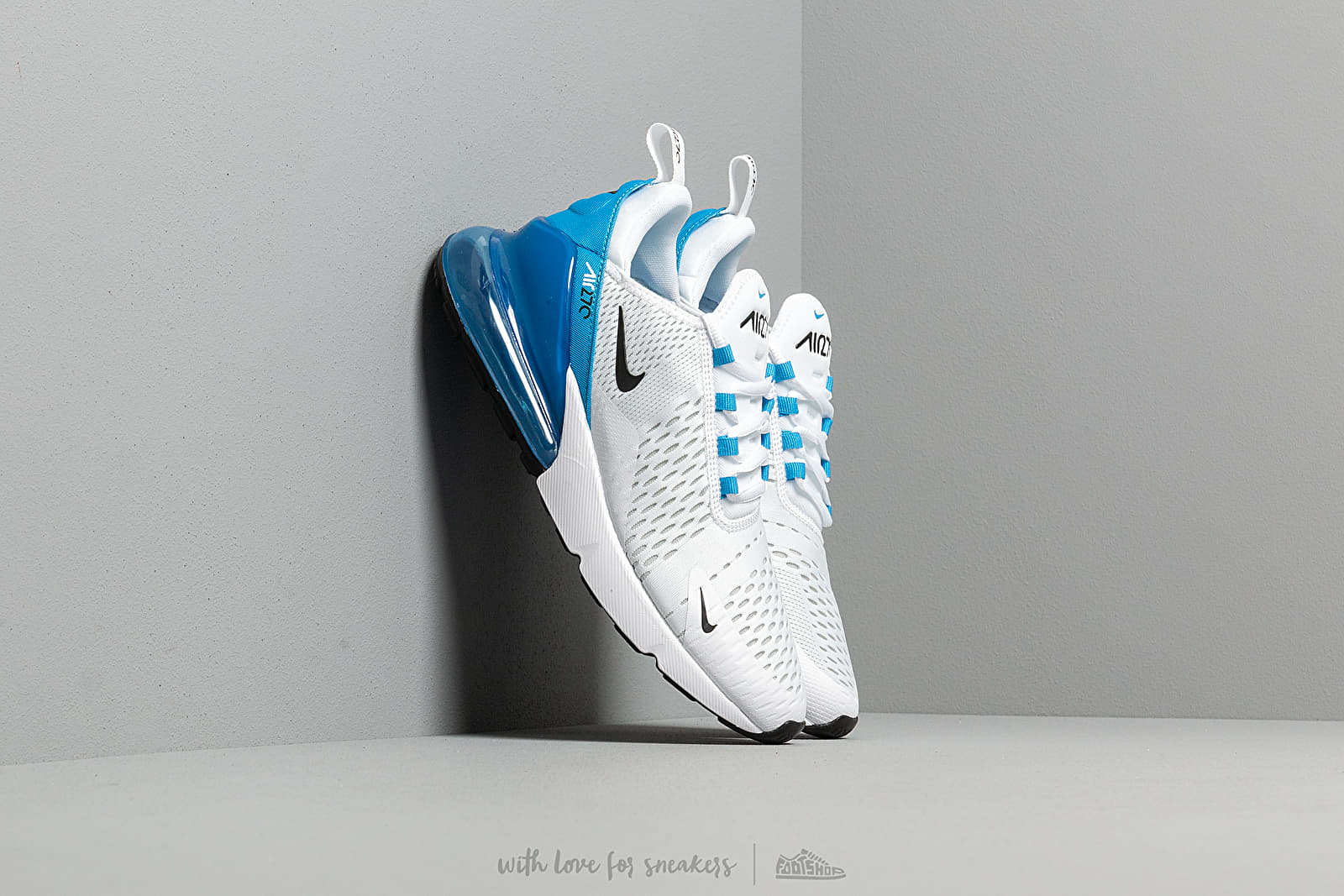 the best attitude 2ac54 fbb71 Nike Air Max 270 White/ Black-Photo Blue-Pure Platinum ...