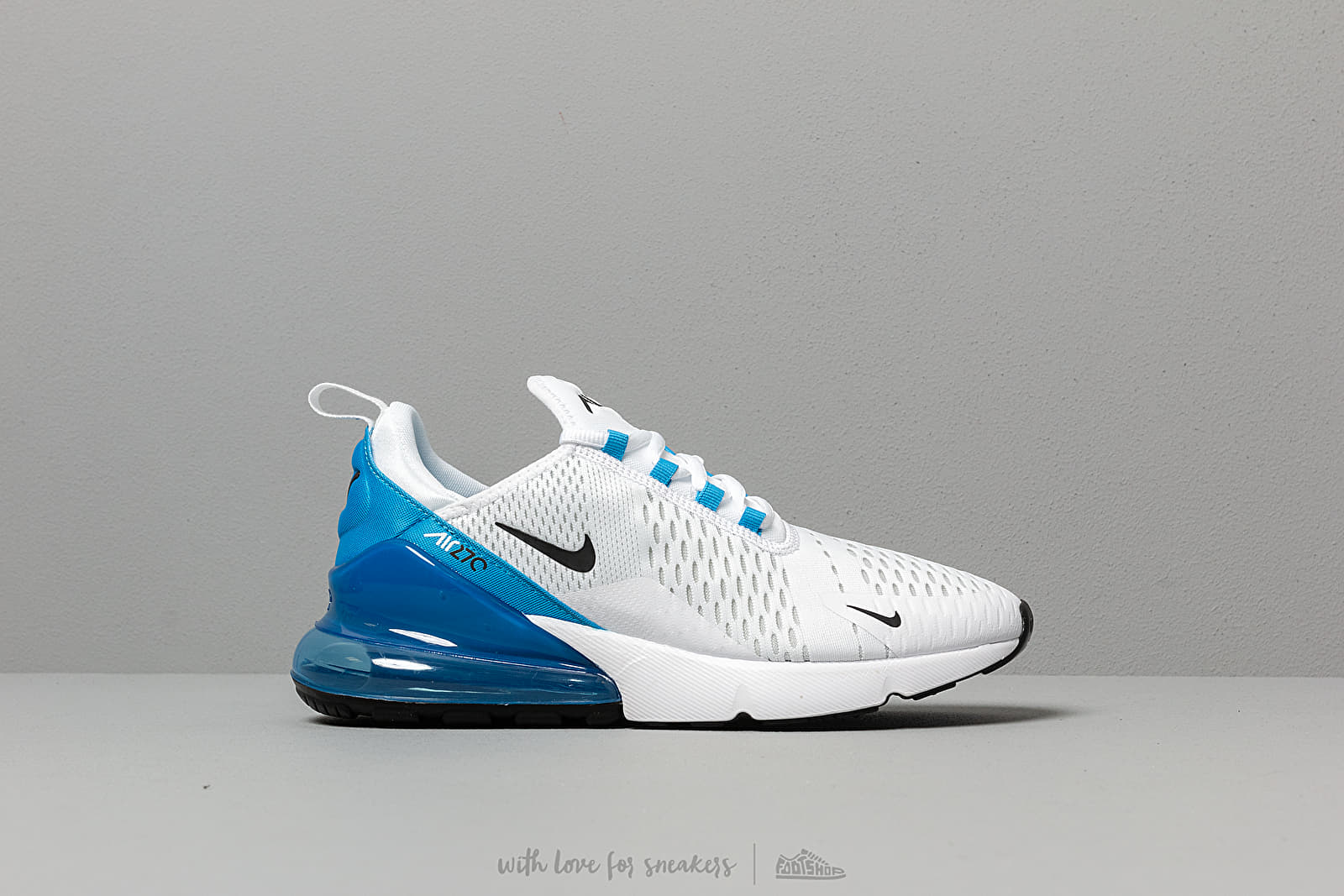 new products 855b7 52ebd Nike Air Max 270 White  Black-Photo Blue-Pure Platinum at a great