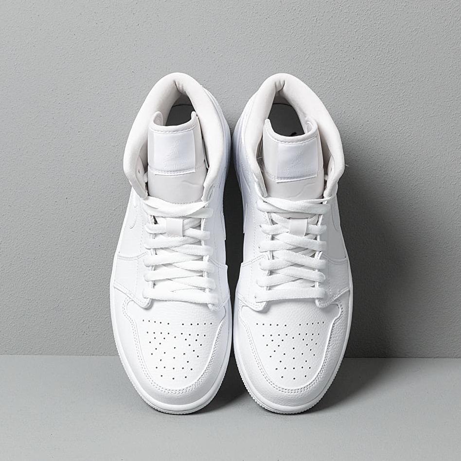 Air Jordan 1 Mid White/ White-White
