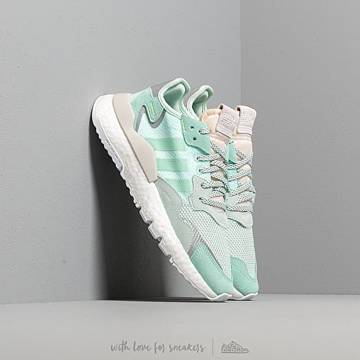 adidas Nite Jogger W Ice Mint Clear Mint Raw White | Footshop