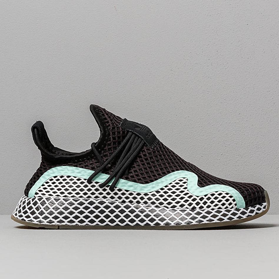 adidas Deerupt S W Core Black/ Ftw White/ Clear Mint