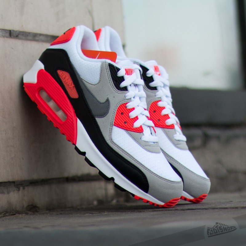 new concept 862d9 31bdd Nike Air Max 90 OG Infrared White Cool Grey Neutral Grey