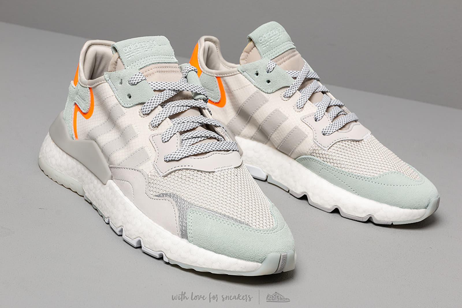 adidas Nite Jogger Raw White/ Grey One/ Vapor Green | Footshop