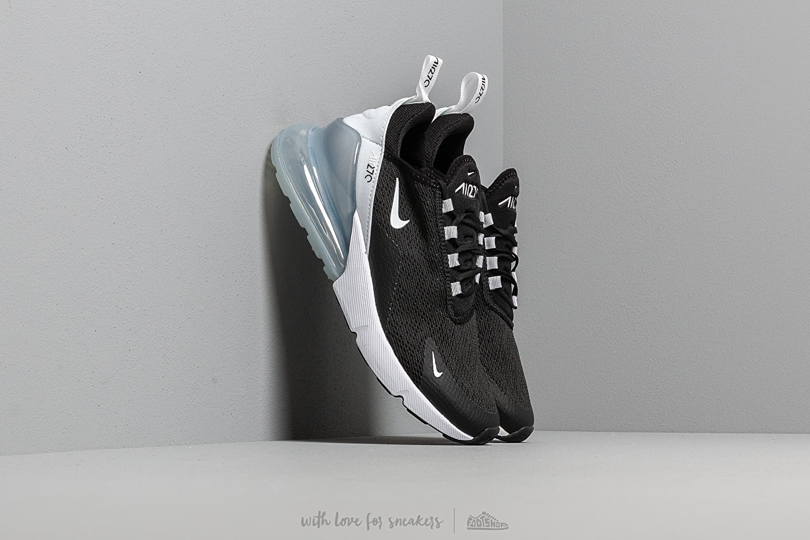Nike W Air Max 270 Black White Pure Platinum White Footshop